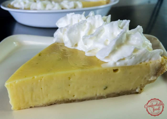 A recipe for the easiest, best key lime pie.