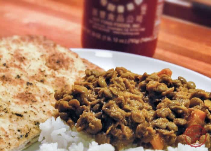 Curried lentils oh yeah