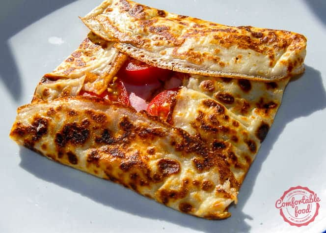 An easy crepe recipe from comfortable food
