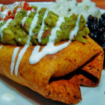Chipotle chicken chimichangas
