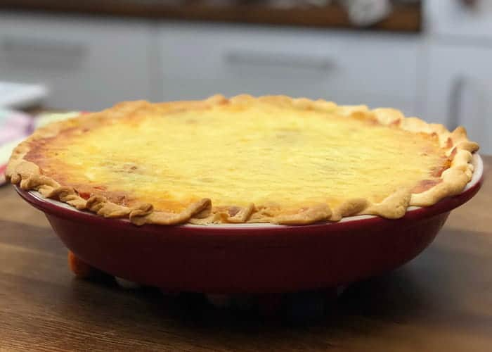 The best cheeseburger pie from comfortable food.