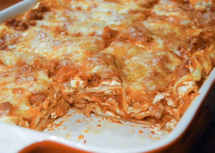 A simple, classic meat lasagna recipe from comfortable food.