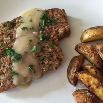 Brown rice meatloaf with veggies