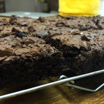 The Best Ever Dark Chocolate Fudgy Homemade Brownies from Comfortable Food.