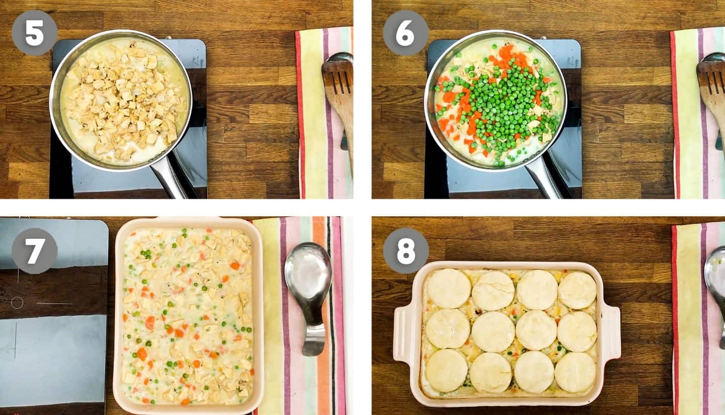 Chicken and biscuits steps2