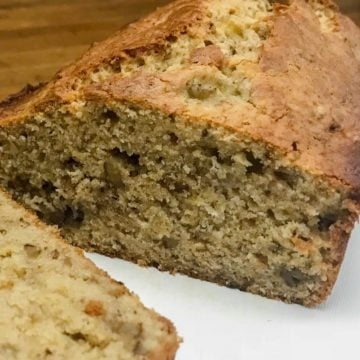 One loaf of cream cheese banana bread
