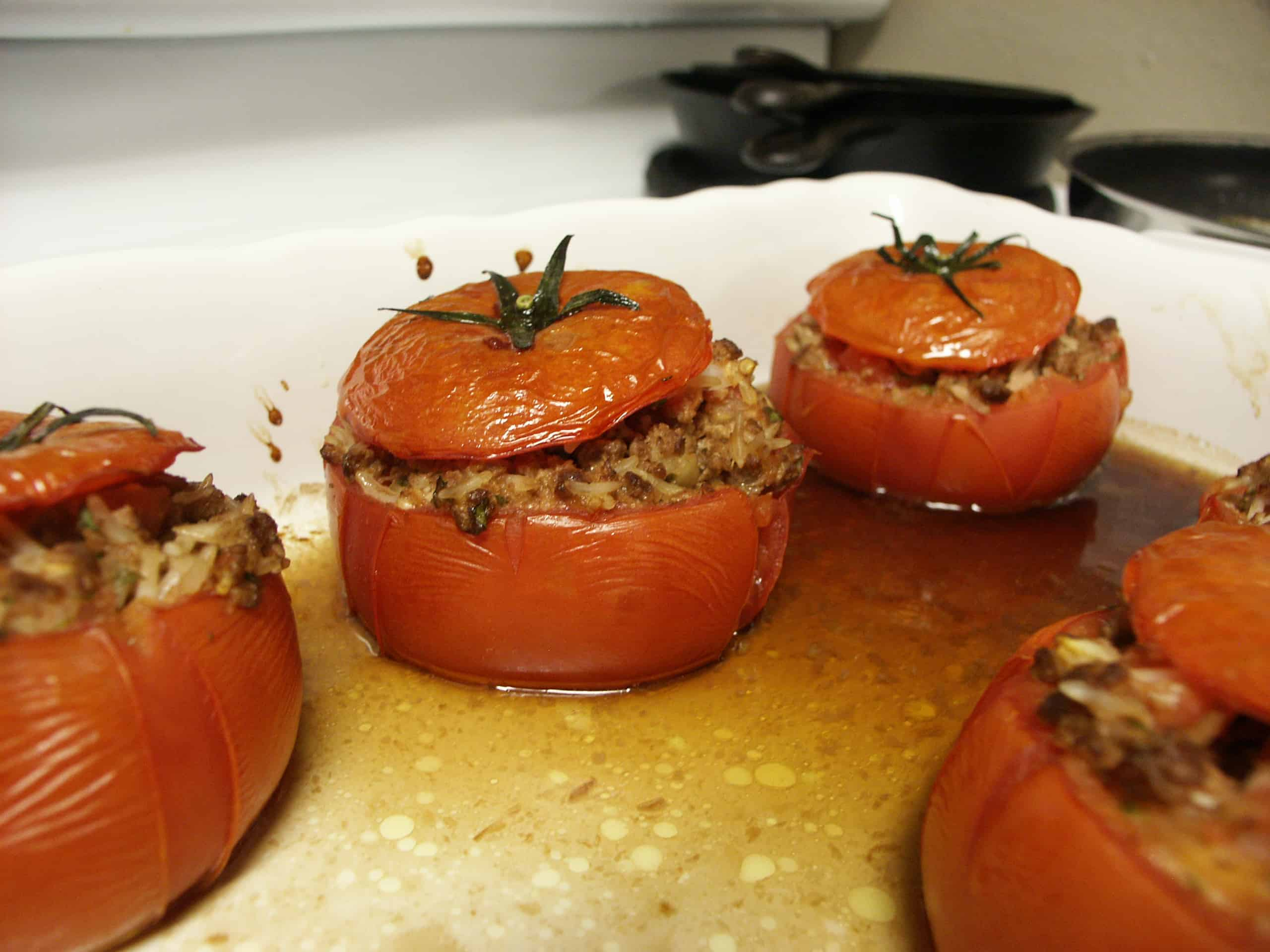 Stuffed tomatoes with ground beef 1